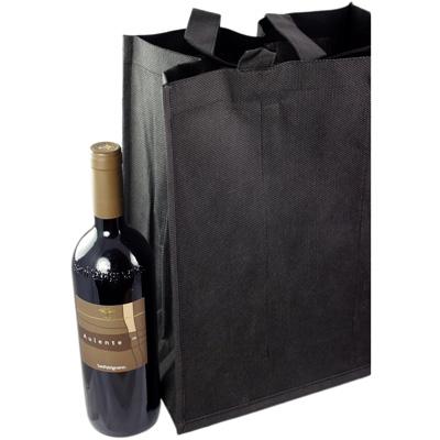 Accessori borsa porta bottiglie in tnt wine bag 6 black for Porta bottiglie vino