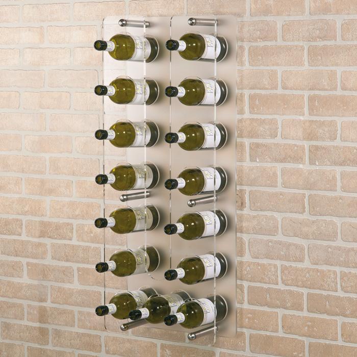 Accessori portabottiglie a parete in plexiglass mod wall - Portabottiglie a muro ...