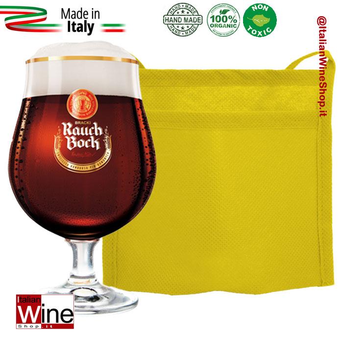 Accessori tasca porta bicchiere in tessuto non tessuto - Porta bicchieri birra ...