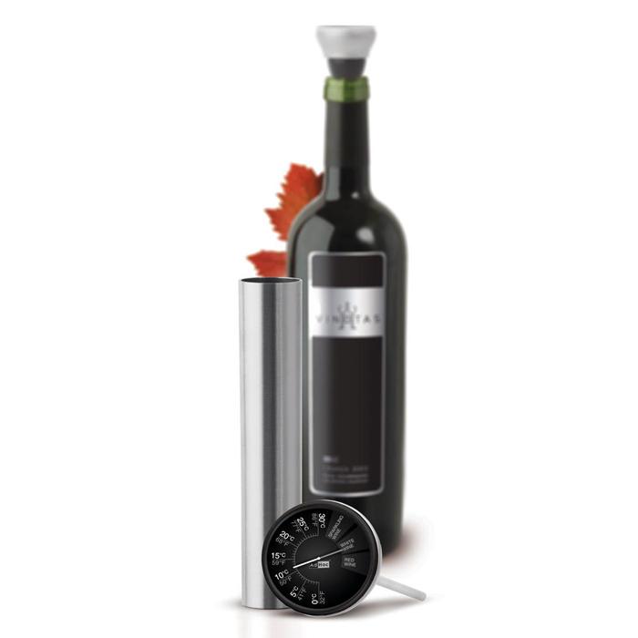 Accessori termometro con custodia inox wa05 vinotas by - Accessori vino design ...