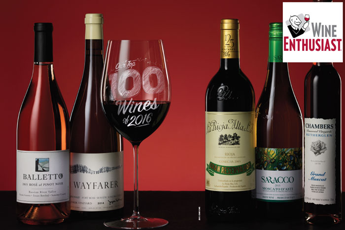 WINE ENTHUSIAST TOP 100 OF 2016