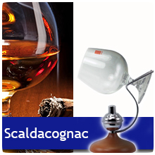 Scalda Cognac - base in legno - Mod. ''Mono'' - By Euposia®