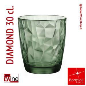 bormioli-rocco-bicchiere-acqua-tumbler-diamond-30-green-verde-capacita-30-cl-conf-6-pz