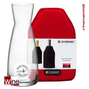 collezione-ypsilon-fresco-caraffa-bormioli-ypsilon-100-cl-fodero-refrigerante-rosso-ciliegia-le-creuset-wa126