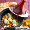 Le Creuset - Pentola per Tajine in ghisa smaltata - diametro 31 cm - colore Rosso Ciliegia - Capacità 3,3 lt._bis