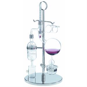 micro-distillatore-in-vetro-con-base-in-metallo-argentato-by-tfa