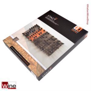 Rack Portabottiglie a parete - STACT NOCE (Wallnut) - Modulo con Finitura legno - by STACT Wine Dispalys _bis