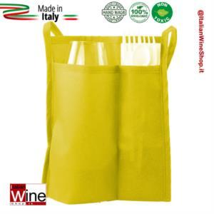 sacchetta-doppia-tasca-porta-calice-kit-posate-modello-tnt-gusto-range-3-giallo-dvm