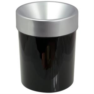 spittoon-in-plastica-cone-10-silver-black-10-lt-by-dvm