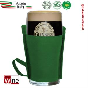 tracolla-porta-bicchiere-in-tessuto-non-tessuto-glass-holder-reggi-pinta-verde-dvm