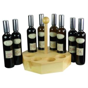 set-di-8-tipi-di-aceto-di-frutta-con-portabottiglie-in-legno-di-cirmolo-di-pojer-e-sandri