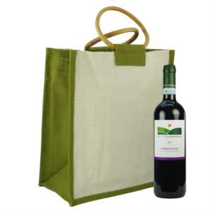 Borsa Porta bottiglie - WINE BAG 6 Green - By OMNIABOX®