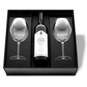 Scatola VUOTA per Confezione Regalo Porta Calici & Bottiglia Bordolese - Mod. RESERVE - OMNIABOX