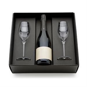 Scatola VUOTA per Confezione Regalo Porta Flute & Champagne - Mod. CHAMPAGNE CUVEE - OMNIABOX