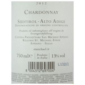 Chardonnay Alto Adige DOC 2012 di St. Michael - Eppan_bis