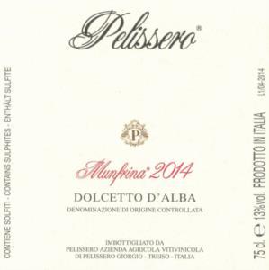 Munfrina Pelissero Dolcetto d'Alba DOC 2016_bis